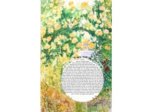 Yellow Rose Arbour Watercolour
