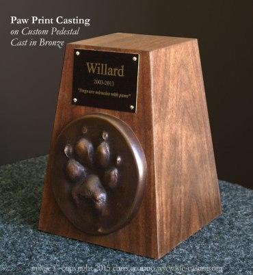 Bronze Paw Print