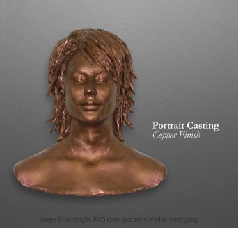 Copper Portrait Casting