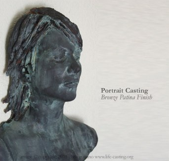 Bronze Patina Portrait Casting