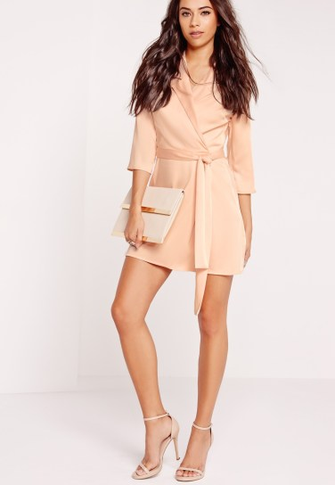 Missguided Silky Wrap dress - £35