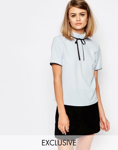 ASOS Reclaimed Vintage High neck top - £28