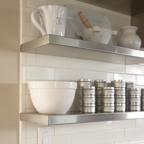 White Kitchen Zinc Hood