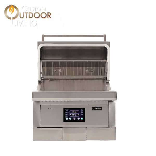 Coyote Outdoor Living 28 Inch Built-in Pellet Grill