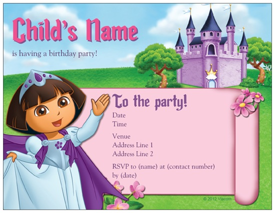 Dora Explorer Princess Castle