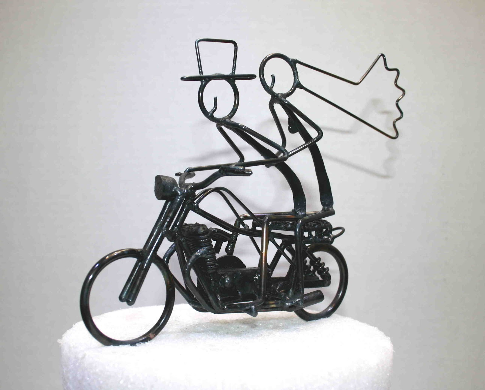 Motorcycle Cake Topper   Custom Sculptures Motorcycle Cake Topper