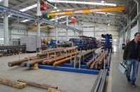 Large pieces of steel are bar coded and tracked using P@rtner ERP