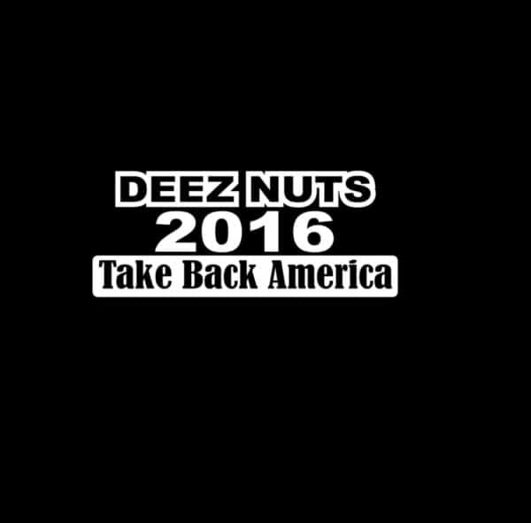 Deez nuts for president 2016 vinyl decal stickers