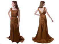 Copper 1930′s style formal dress.