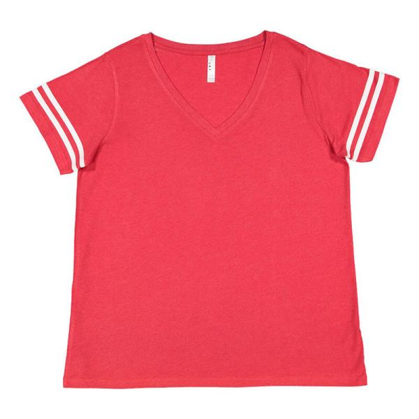Curvy Collection Women's Vintage Football T-Shirt