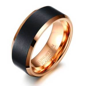 black-and-rose-gld-8mm-mens-tungsten-ring