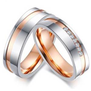 couples-matching-rose-gold-with-silver-and-CZ-Stones-inlaid