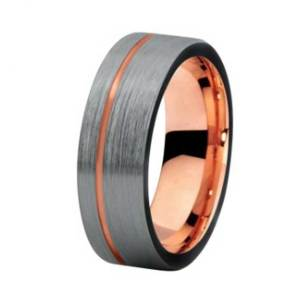 mens-8mm-brushed-matt-silver-and-rose-gold-tungsten-ring