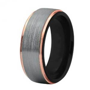 mens-8mm-silver-with-rose-gold-edges-and-black-lining-tungsten-ring.