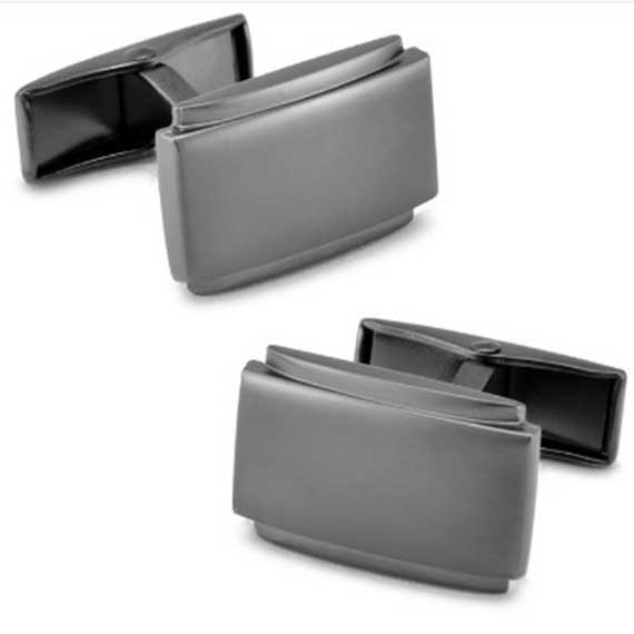 pair-mens-tungsten-cufflinks-square-design-with-two-outer-edge-lines---custom-tungsten-rings