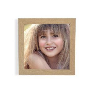 Tu foto en marco madera natural 30x30 cm