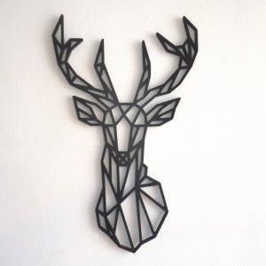 ciervo geometrico paredes nordicas