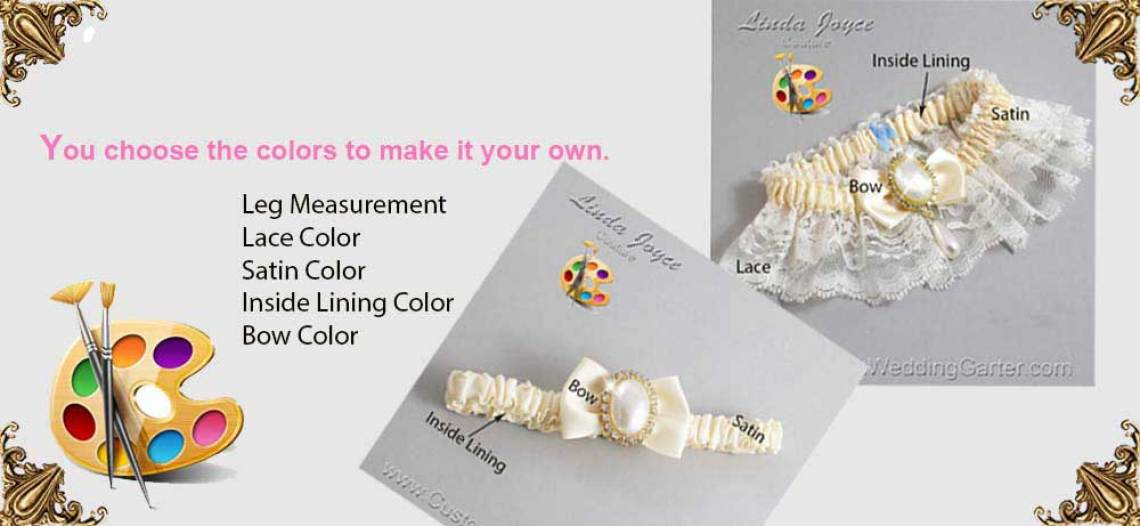 Customized Wedding Garters. Bridal Garters and Prom Garters
