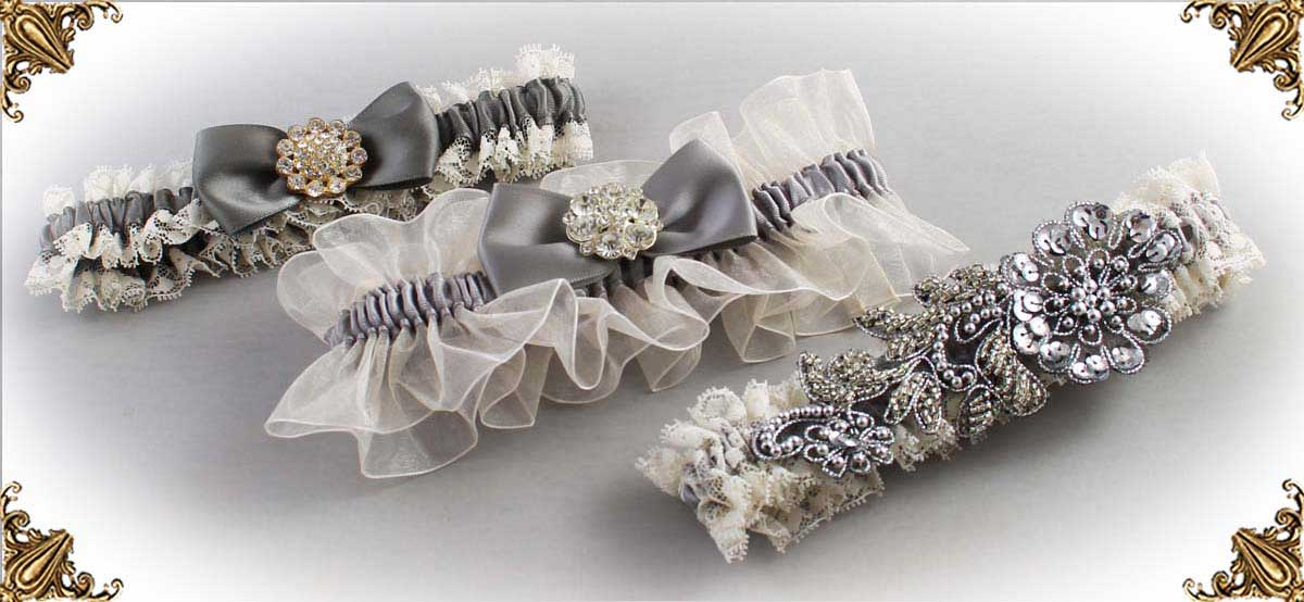 Ivory-Gray-Wedding-Garters-Bridal-Garter-Prom-Garters-Custom-Wedding-Garter-Linda-Joyce-couture