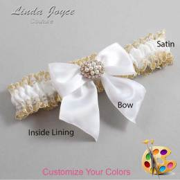 Customizable Bow Handcrafted Garter