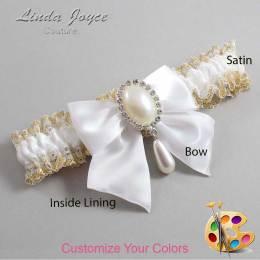 Customizable Antique Bow Bridal Garter