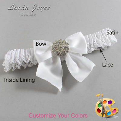 Customizable Wedding Garter / Elizabeth #09-B01-M11-Silver