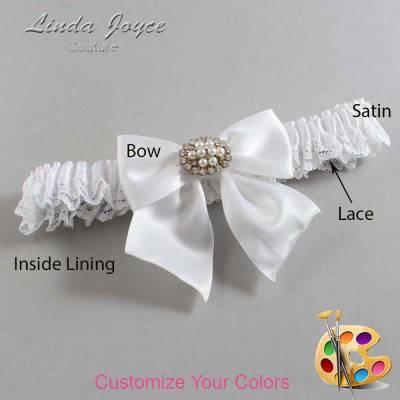 Customizable Wedding Garter / Cynthia #09-B01-M16-Gold