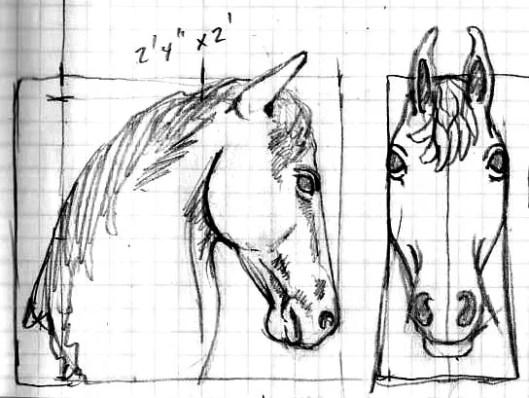 horsehead sketch