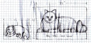 Abby cat sketch