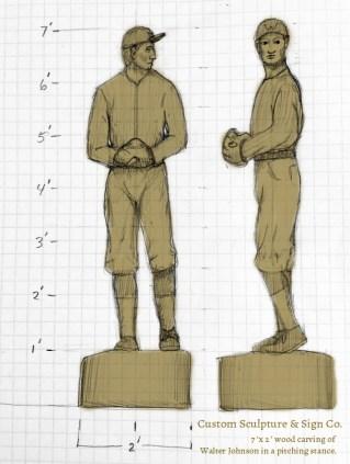 pitcher sketch