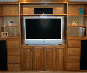 Customer Built-In Entertainment Center