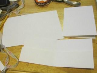 XOXO kraft cardstock card and envelope