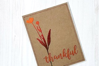 CutCardStock place setting for Thanksgiving