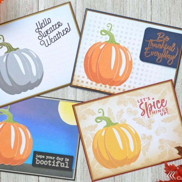 Autumn Pumpkin Card Set
