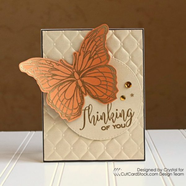 Thinking of You Fall Butterfly Card