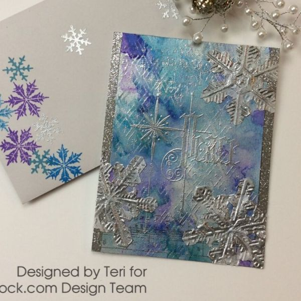Silver Sparkly Snowflake Card