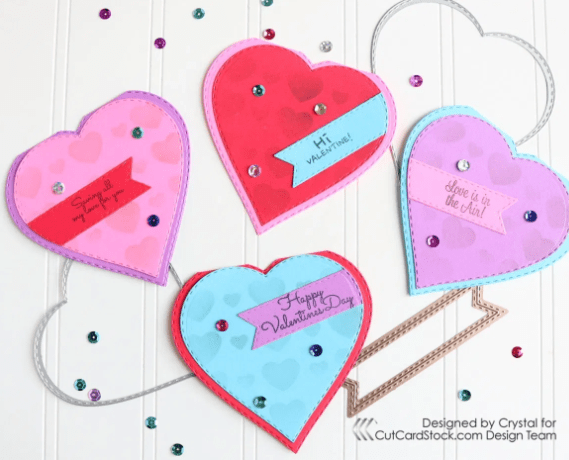 Heart-Shaped Valentine's Day Cards