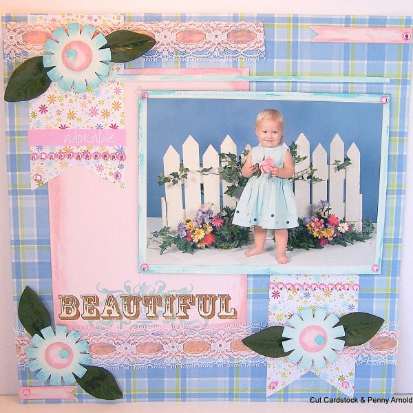 How to Make a Little Girl's Springtime Layout
