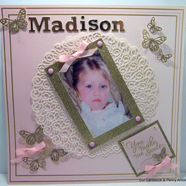How to Use Glittered Cardstock as Layout Accents