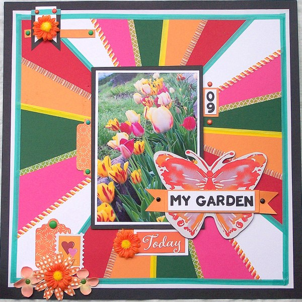 How To Make a Quilt Style Layout Using Cardstock