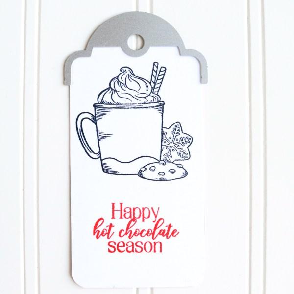 Hot Chocolate Gift Tag Idea.