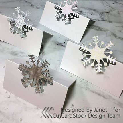 Cut Your Own Holiday Place Cards