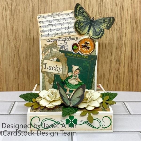 Celebrating St. Patrick's Day – Vintage Slide and  Stand Card