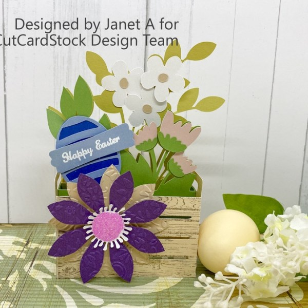 Easter Flower Crate with Curious Metallic Cardstock