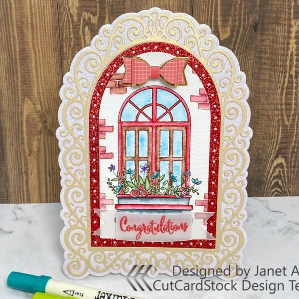 Glitzy Watercolor Window