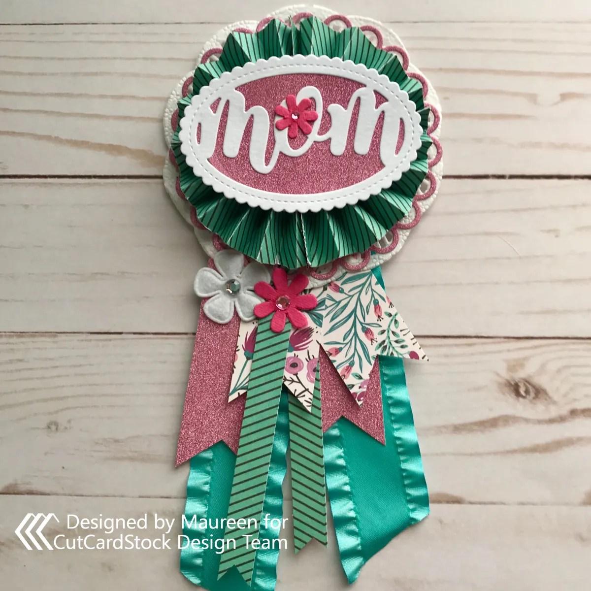 Mom of the Year Award Pin