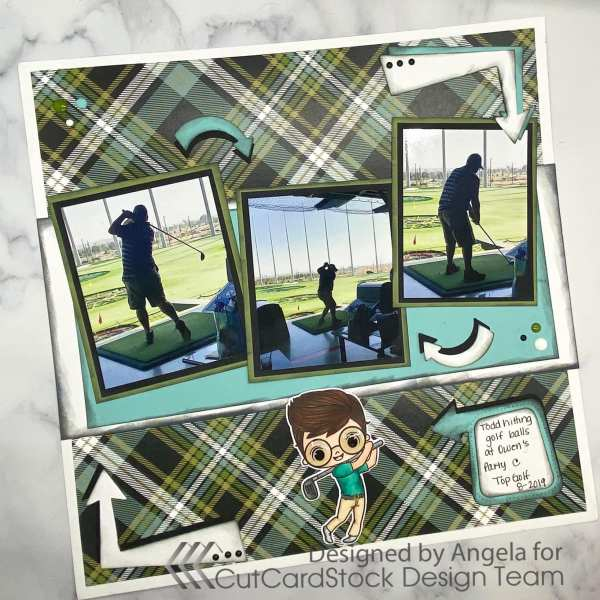 A day at Top Golf- creating a fun, masculine layout