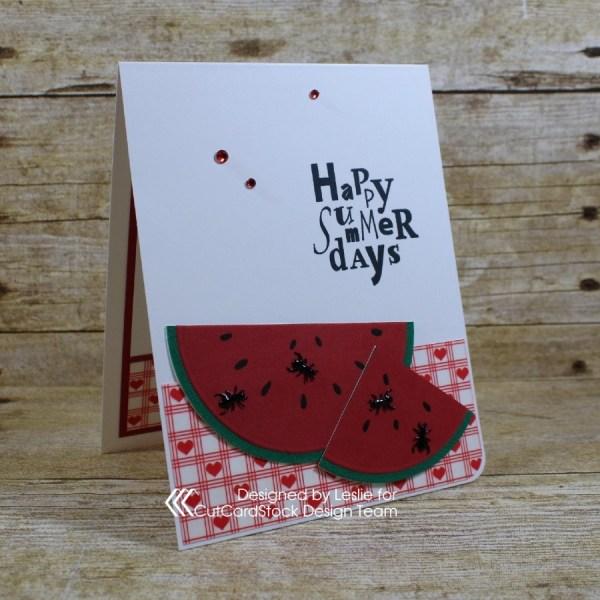 Picnic Fun Summer Card: Watermelon and Ants!