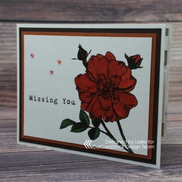 Missing You Fun Fold Card!