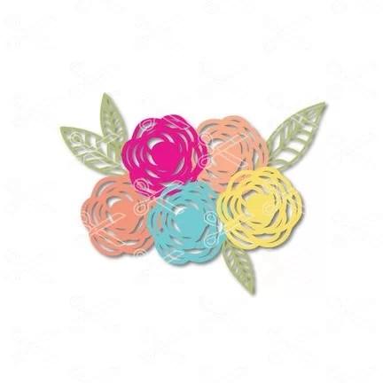 Download Flower SVG Cut File for Cricut and Silhouette - Flower Clipar